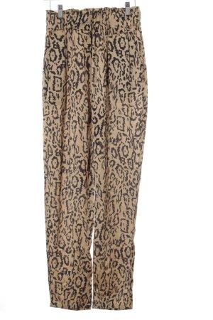 Storm & Marie Jersey Pants beige-black animal pattern