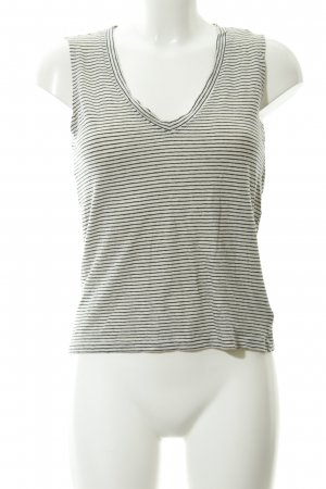 Storm & Marie Tank Top natural white-black striped pattern casual look