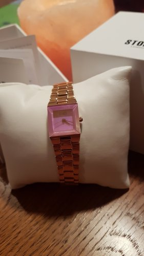 storm Watch With Metal Strap rose-gold-coloured-pink