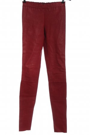 STOULS Leather Trousers red casual look