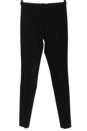 STOULS Pantalone in pelle nero stile casual