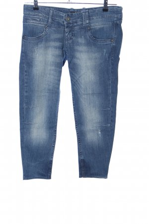 Stradivarius 3/4 Jeans blau Casual-Look