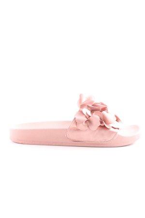 Stradivarius Absatz Pantoletten pink Casual-Look