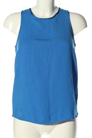 Stradivarius ärmellose Bluse blau Casual-Look