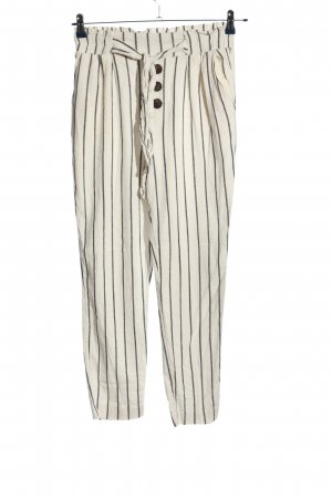 Stradivarius Baggy Pants white-black striped pattern casual look