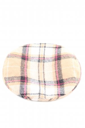 Stradivarius Beret check pattern casual look