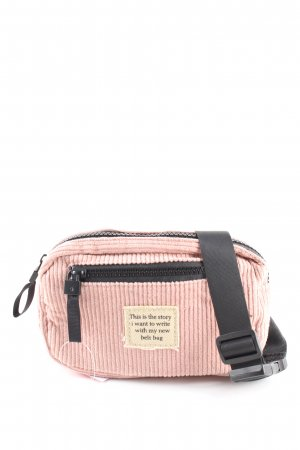 Stradivarius Bumbag pink-black striped pattern casual look
