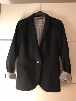 Stradivarius Blazer in tweed nero-bianco