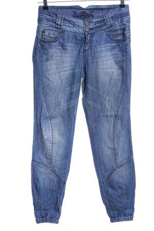 Stradivarius Jeans boyfriend bleu style décontracté