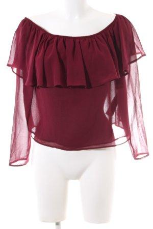 Stradivarius Carmen blouse rood casual uitstraling