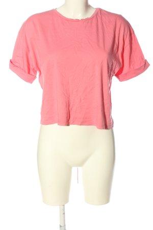 Stradivarius Cropped Shirt pink Casual-Look