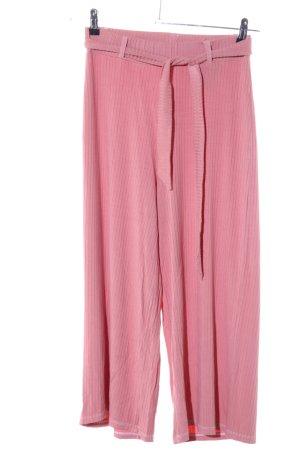 Stradivarius Culottes pink Streifenmuster Casual-Look