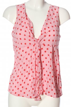 Stradivarius Cut out top roze-rood volledige print casual uitstraling