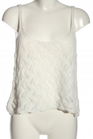 Stradivarius Crochet Top white casual look