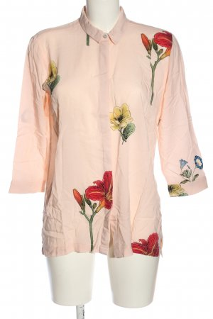 Stradivarius Hemd-Bluse Blumenmuster Business-Look