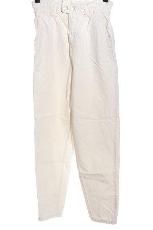 Stradivarius Jeans taille haute blanc style décontracté