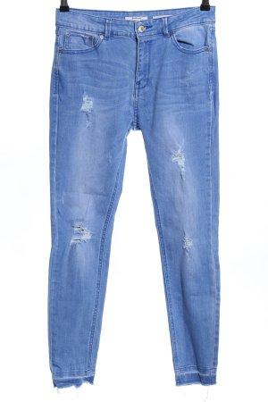 Stradivarius Hoge taille jeans blauw casual uitstraling