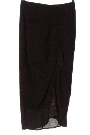 Stradivarius Falda de talle alto negro-marrón look casual