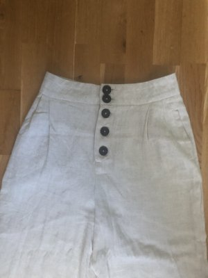 Stradivarius Falda pantalón de pernera ancha beige claro