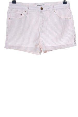 Stradivarius Hot Pants pink-weiß Streifenmuster Casual-Look