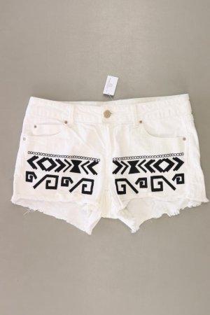 Stradivarius Shorts natural white cotton