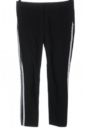 Stradivarius Low-Rise Trousers black-white striped pattern casual look