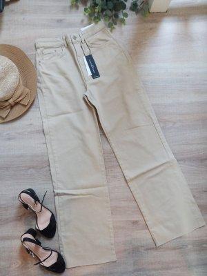 Stradivarius Jeans large marron clair-beige