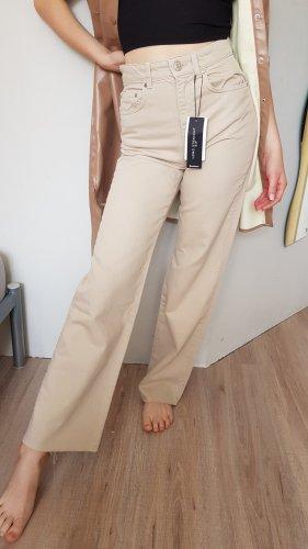 Stradivarius Jeans large beige clair-beige