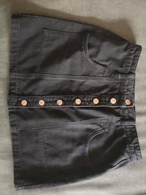 Stradivarius Gonna di jeans nero-bronzo