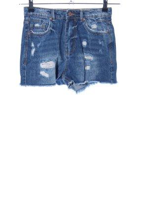 Stradivarius Denim Shorts blue casual look