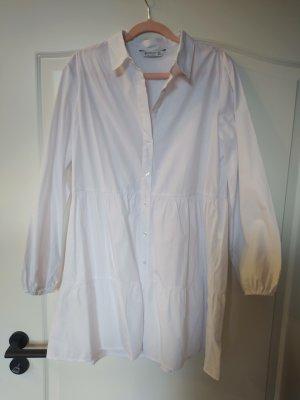 Stradivarius Vestido camisero blanco
