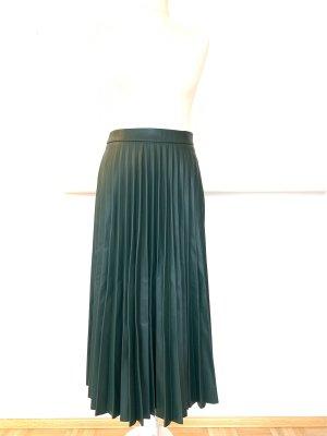 Stradivarius Plaid Skirt dark green polyester
