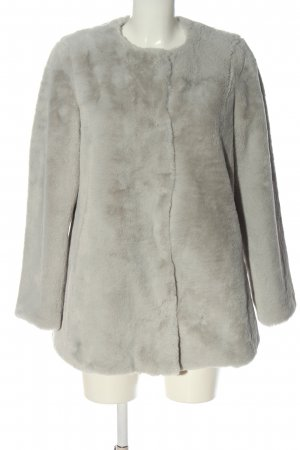 Stradivarius Fake Fur Jacket light grey casual look