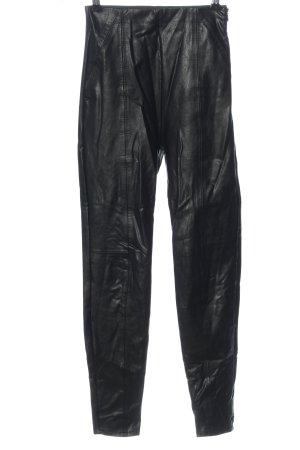 Stradivarius Faux Leather Trousers black extravagant style