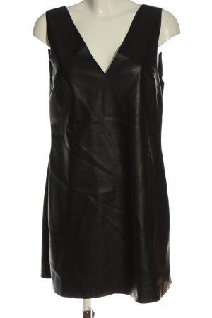 Stradivarius Vestido effecto piel negro estilo extravagante