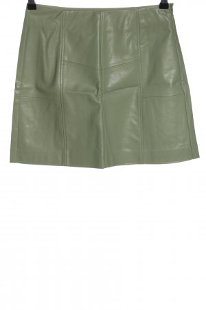 Stradivarius Faux Leather Skirt khaki casual look