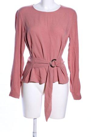 Stradivarius Langarm-Bluse pink Casual-Look