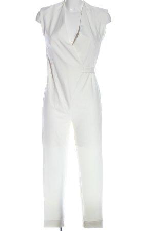 Stradivarius Langer Jumpsuit blanc style décontracté