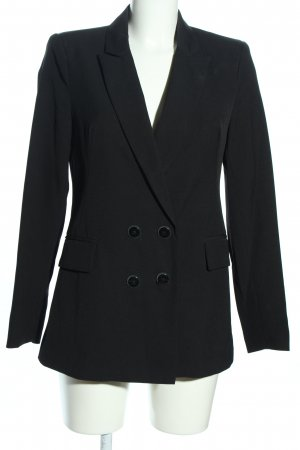 Stradivarius Long-Blazer schwarz Business-Look