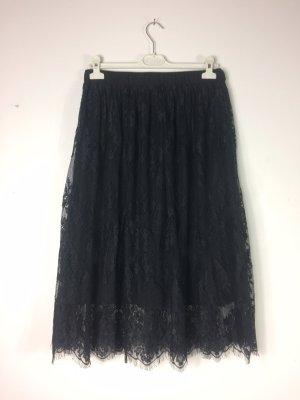 Stradivarius Lace Skirt black