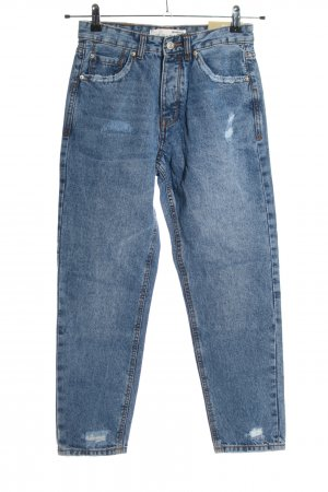 Stradivarius Mom-Jeans blau Casual-Look