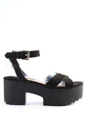Stradivarius Platform High-Heeled Sandal black casual look