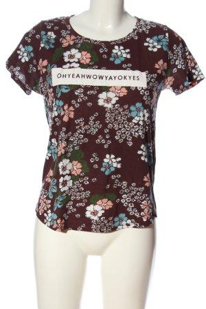 Stradivarius Print-Shirt Blumenmuster Casual-Look