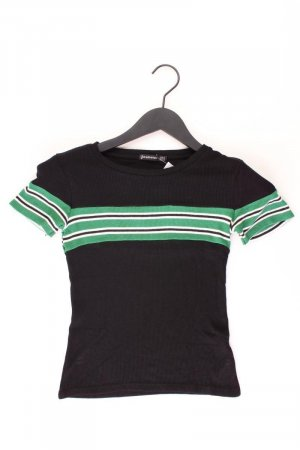 Stradivarius Stripe Shirt black viscose