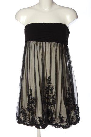 Stradivarius schulterfreies Kleid schwarz-wollweiß Elegant