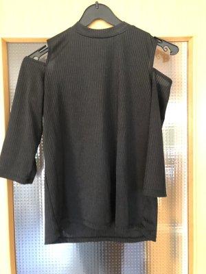 Stradivarius Camisa acanalada negro