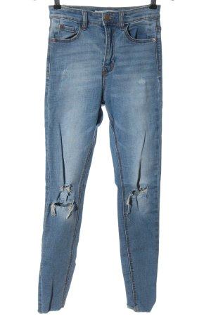 Stradivarius Skinny Jeans blau Casual-Look