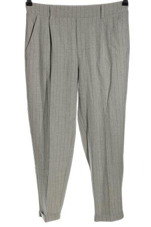 Stradivarius Jersey Pants light grey striped pattern business style