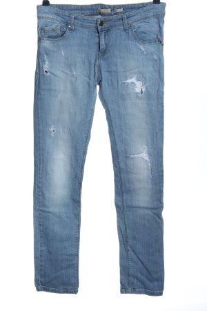Stradivarius Straight-Leg Jeans blau Casual-Look