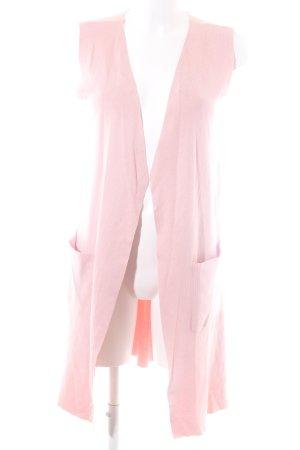 Stradivarius Strickweste pink Casual-Look